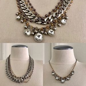 Jewelry - 3 Styles In 1 Necklace / Beads - Chain - Stones